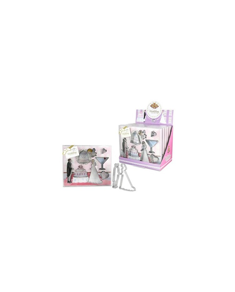 image: Boxed set 8 Wedding cookie cutters