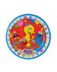 image: Elmo & Sesame Street gang party plates