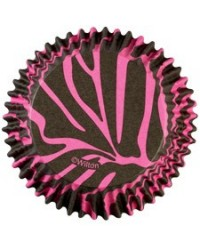 image: Colourcups foil (no grease cupcake papers) PINK ZEBRA