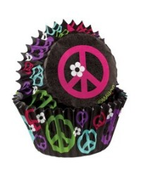 image: Peace sign standard cupcake papers