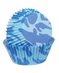 image: Camouflage Blue mini baking cups