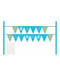 image: Cake banner kit Lil Quack baby shower bunting