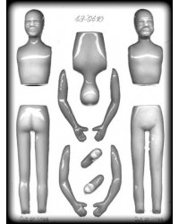 image: 3d man (young & old) chocolate or fondant mould
