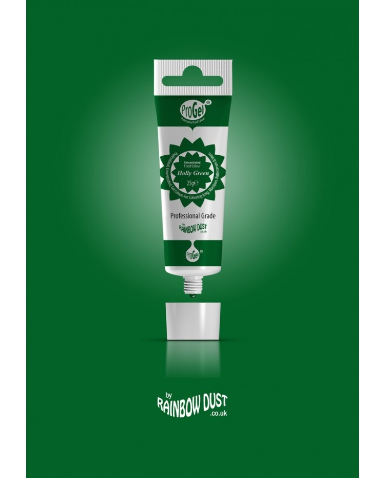 image: Progel concentrated gel paste food colouring Holly Green