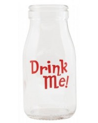 image: Glass milk bottle Drink Me