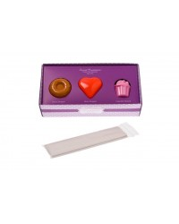 image: Set 3 cake pops moulds (donut, heart & cupcake)