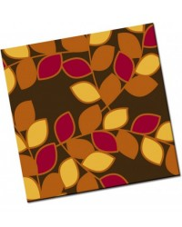 image: Chocolate transfer sheet Autumn leaves