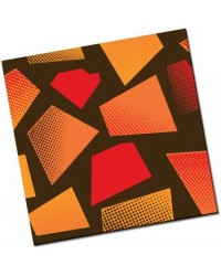 image: Chocolate transfer sheet Retro Mosaiic tiles