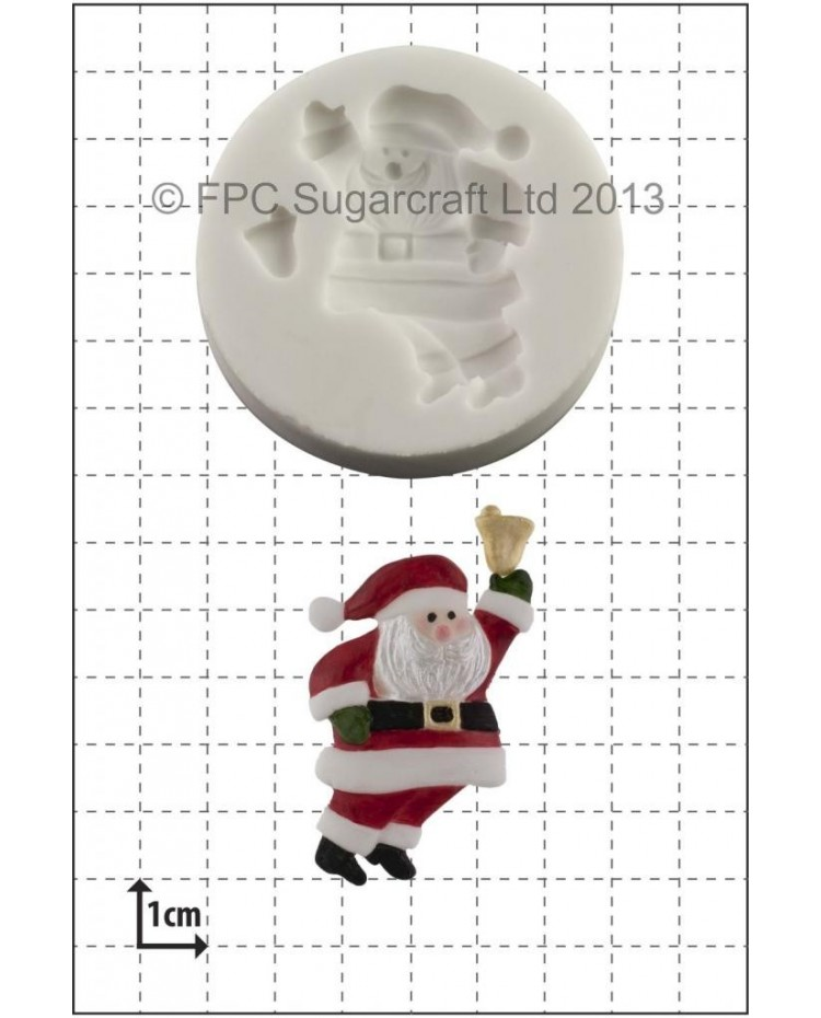 image: Santa Claus with Bell silicone mould