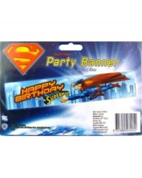 image: Superman happy birthday banner