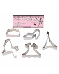 image: Paris set 5 stainless steel cookie cutters