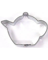 image: Mini Teapot cookie cutter stainless steel