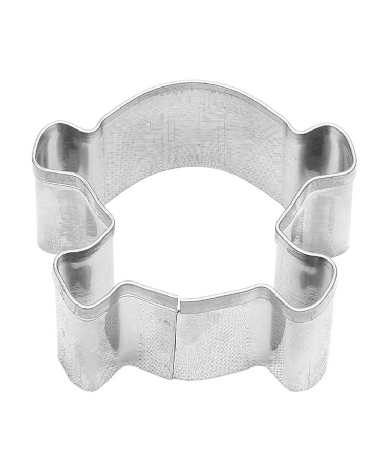 image: Mini Skull & Crossbones cookie cutter stainless steel