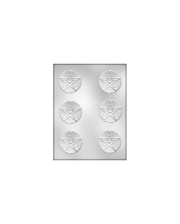 """image: Eastern Star mint  2 3/8"""" chocolate mould"""