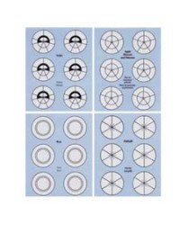image: Flower nail templates for icing flowers