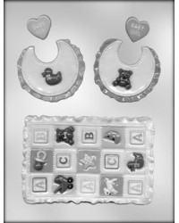image: Baby Quilt & Bib chocolate mould
