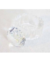 image: Crystal glass ring topper