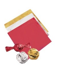 image: Wilton Silver chocolate foil wrapping squares