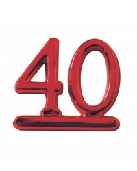 image: 40 numeral - ruby red for birthday or anniversary