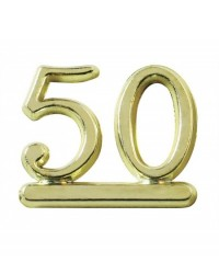image: 50 numeral - gold for birthday or anniversary