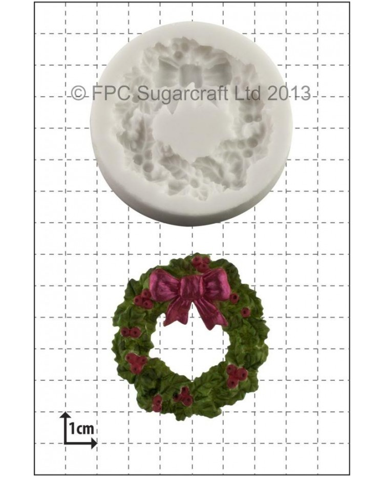 image: Holly Wreath silicone mould