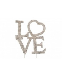 image: LOVE diamante cake topper