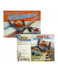 image: Disney Planes party invitations & thank you notes (8)