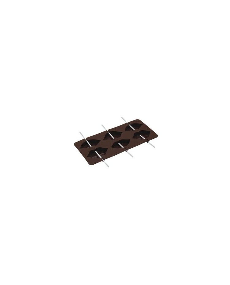 image: Lips silicone lollipop chocolate mould
