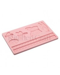 image: Borders Butterfly Dragonfly & Bee silicone mould Sweetly Does It