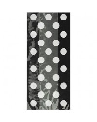 image: Black & white polka dot cello treat bags (20)