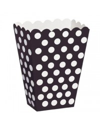 image: Black & white polka dot popcorn or treat boxes (8)