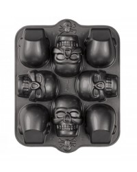 image: Dimensions 3-D Mini Skull cake tin pan