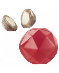 image: 3d or 2d gem faceted diamond chocolate mould