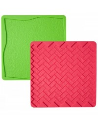 image: Grass & Brick impression texture mat set silicone