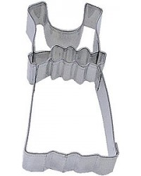 image: Dress with Bodice fondant or cookie cutter