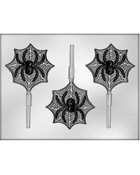 image: Spider & web lollipop chocolate mould