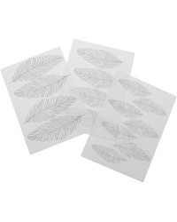 image: Feather texture impression mat set