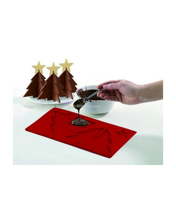 image: 3d silicone standing Christmas tree chocolate mould