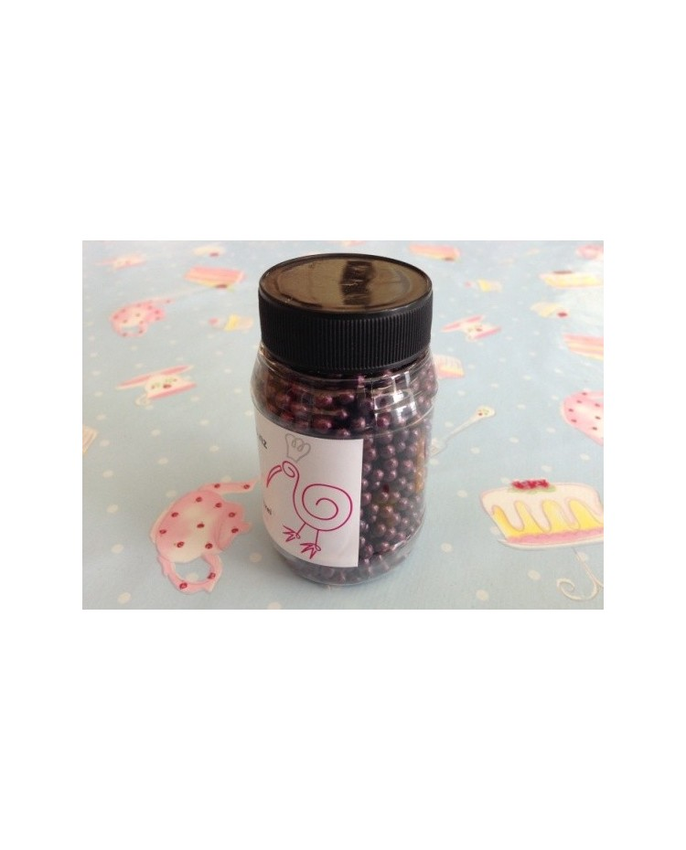 image: Sugar Pearls Aubergine Midnight Purple Lustre 4-5mm