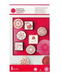image: Martha Stewart peppermint winter cupcake and cookie stencil set
