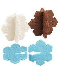 image: 3d Snowflake chocolate mould