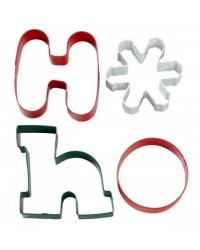 image: Hoho Christmas cookie cutter 4 piece set
