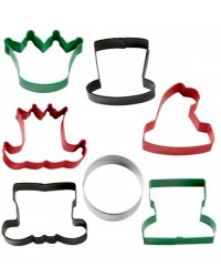 image: Christmas character set 7 cookie cutters
