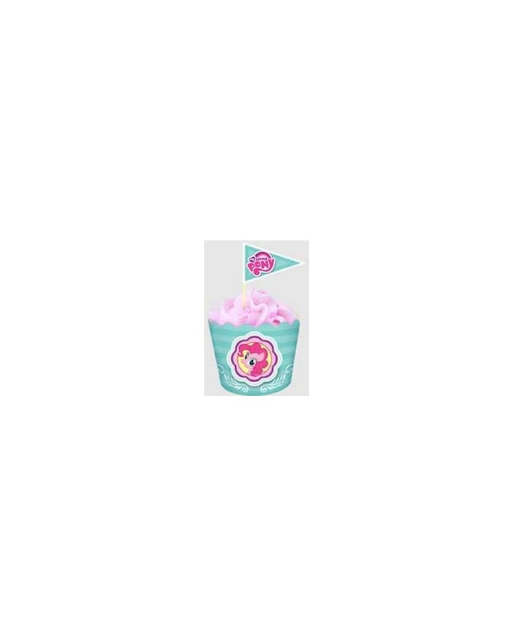image: My Little Pony straight sided cupcake papers & picks