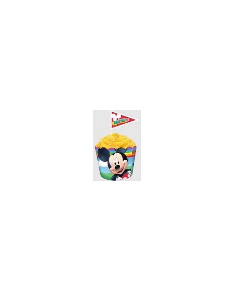 image: Mickey Mouse straight sided cupcake papers & picks