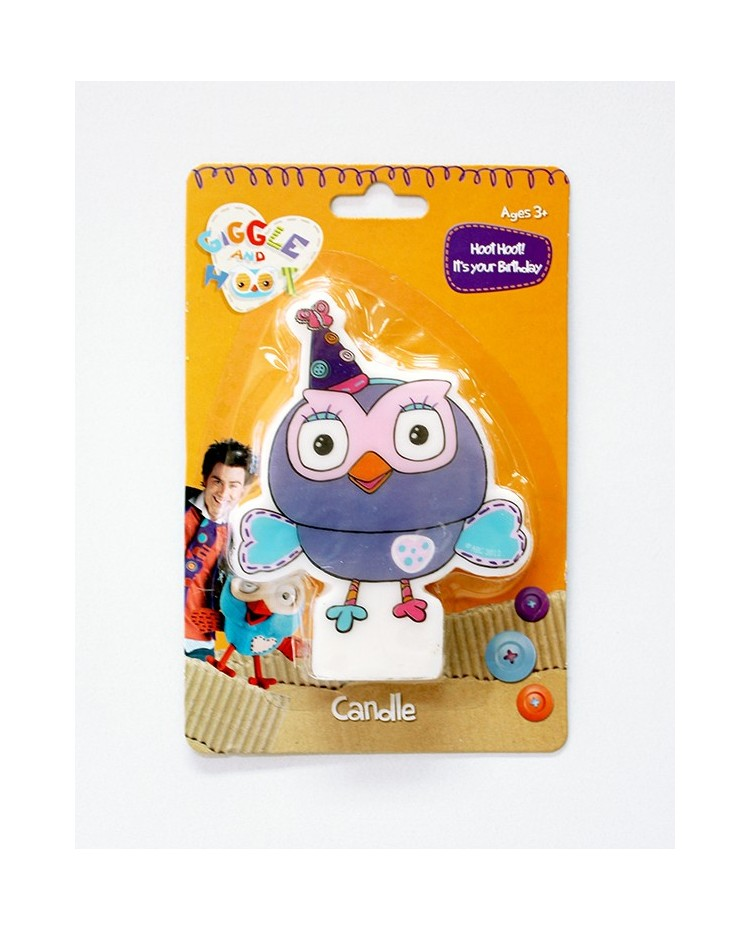 image: Hootabelle the owl - Giggle & Hoot candle