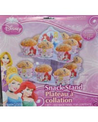 image: Disney Princess 2 tier cupcake snack stand - holds 16