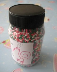 image: Non pareils Festive Christmas blend red/white/green