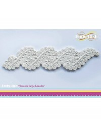 image: Embellish silicone mould - Florence lace border