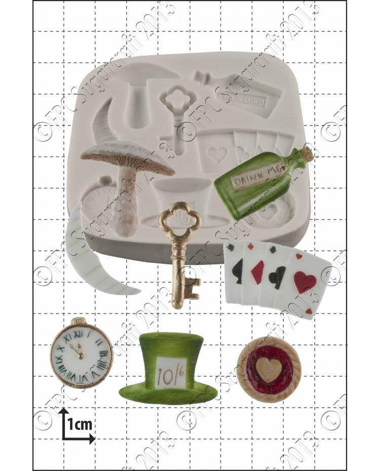 image: Alice in Wonderland silicone mould